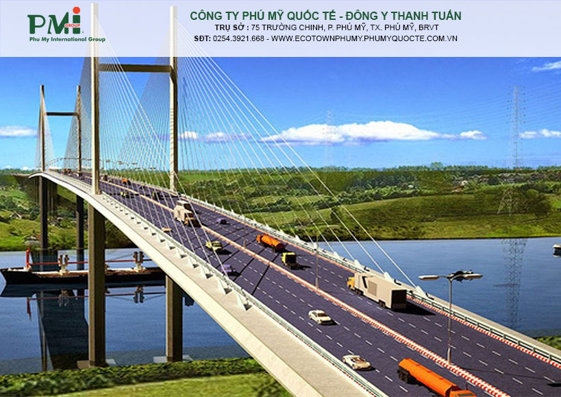 Cầu Cát Lái sẽ là loại cầu dây văng với tĩnh không 55 m.